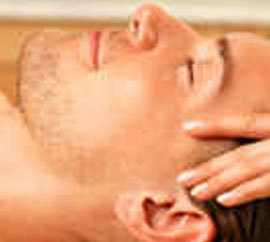 Man head massage