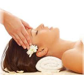 Woman head massage